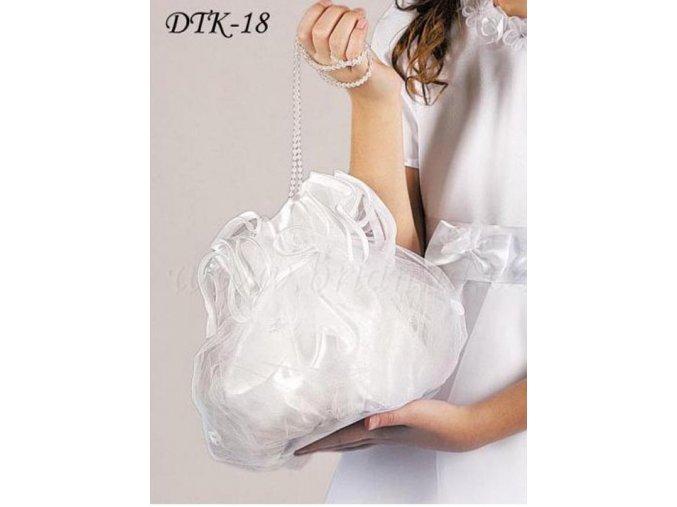 Dívčí svatební pompadurka DTK-18 (Barva bílá)
