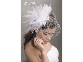 Francouzský svatební závoj se skládaným tylem Z-409 (Barva bílá)