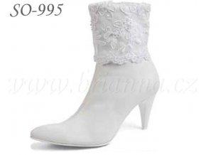 3847 kozene svatebni boty bile