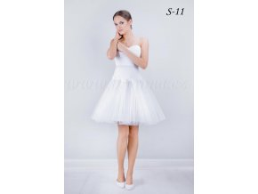 Krátká svatební spodnice S-11 (Barva bílá)