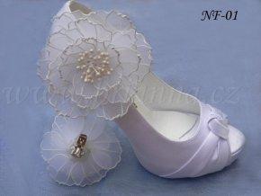 3064 kvetinove klipy na boty velke bile