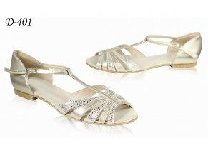 D sandal P1 zlatý