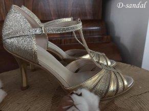 D sandal zlato mix
