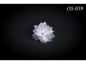 Saténová ozdoba na svatební šaty OS-059 (Barva bílá)
