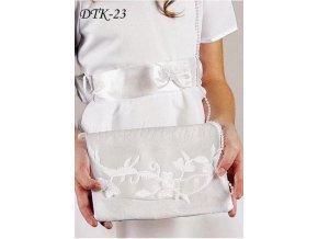 Dětská svatební kabelka s květovanou výšivkou DTK-23 (Barva bílá)