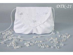 Dětská vyšívaná svatební kabelka DTK-21 (Barva bílá)