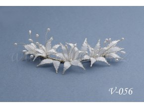 Svatební ozdoba do vlasů  lilie V-056 (Barva bílá)