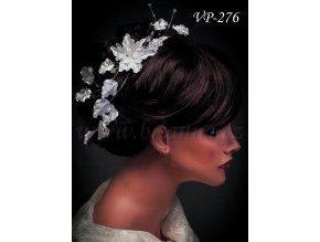 4336 svatebni ozdoba do vlasu pas s listky a krystaly vp 276