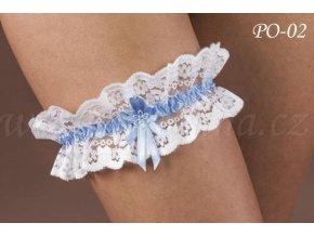 Svatební podvazek PO-02 (Barva bílá)