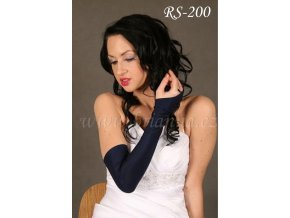 3355 svatebni rukavice nad loket tmave modre rs 200