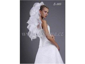 Svatební závoj z lesklé organzy Z-103, SLEVA (Barva bílá)