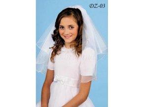 Dětský svatební závoj s krystaly DZ-03 (Barva bílá)