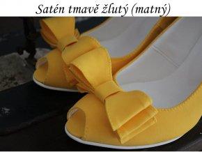 Satén matný žlutý