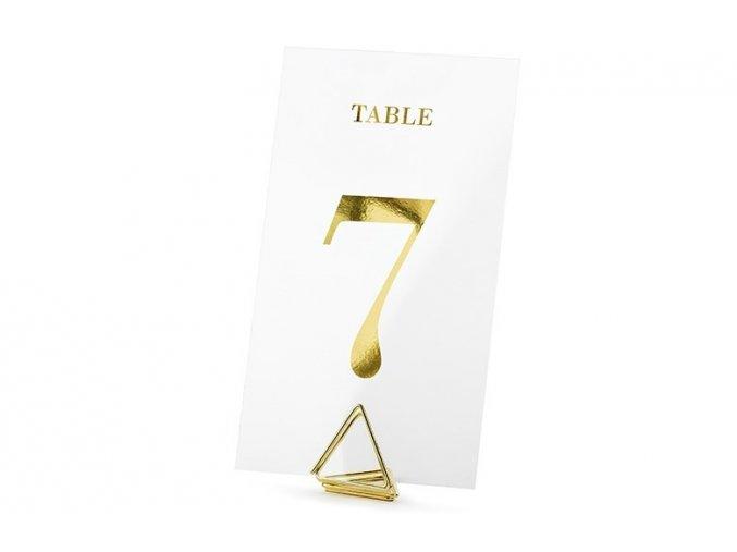 1431 1 cislovani stolu transparentni karty 20ks zlata