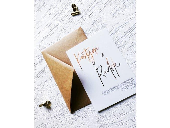 Svatební oznámení - Crystal (Tiskoviny Jmenovka - 6 x 9 cm, Barva písma Černá)