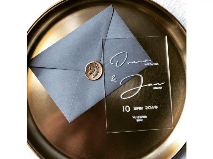 Svatební oznámení - Lucy - Plexi (Tiskoviny Plexi oznámení 10,5 x 15,5 cm)