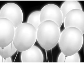 1233 led balonky bile 5ks
