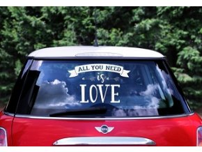 dekorace na auto all you need is love