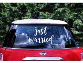 dekorace na auto just married