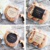 10Sheets 60Pcs Square Circle Shape Thank you Handmade Cake Packaging Sealing Label Kraft Sticker Baking DIY