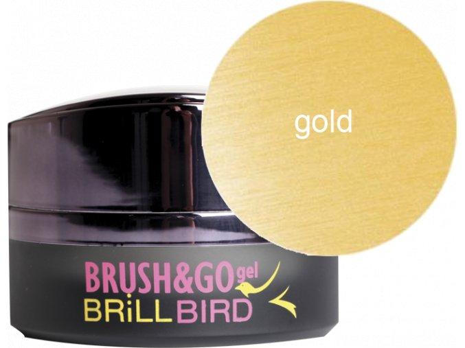 Brush&Go gel Go19 - zlatý