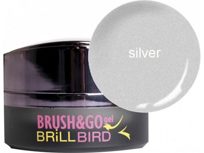 Brush&Go gel Go20 stříbrný