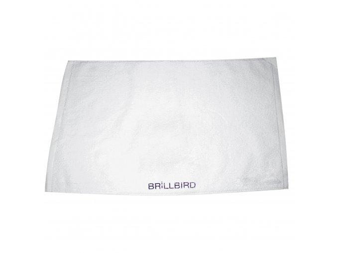 Ručník s logem BrillBird - bílý/fialový
