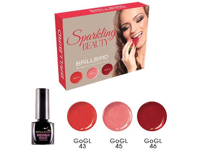 Sparkling Beauty Brush&Go Gel&Lac set 3x5ml