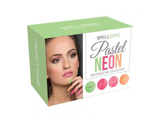 Pastel Neon Brush&Go gel set 4x4,5ml