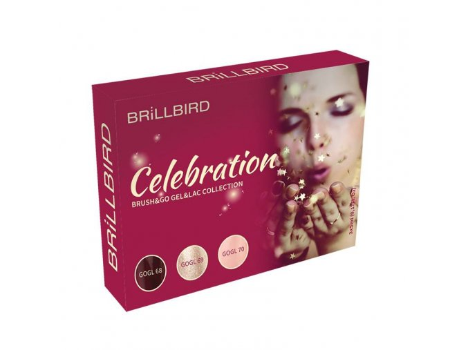 CELEBRATION BRUSH&GO GEL&LAC SET 3X5ML