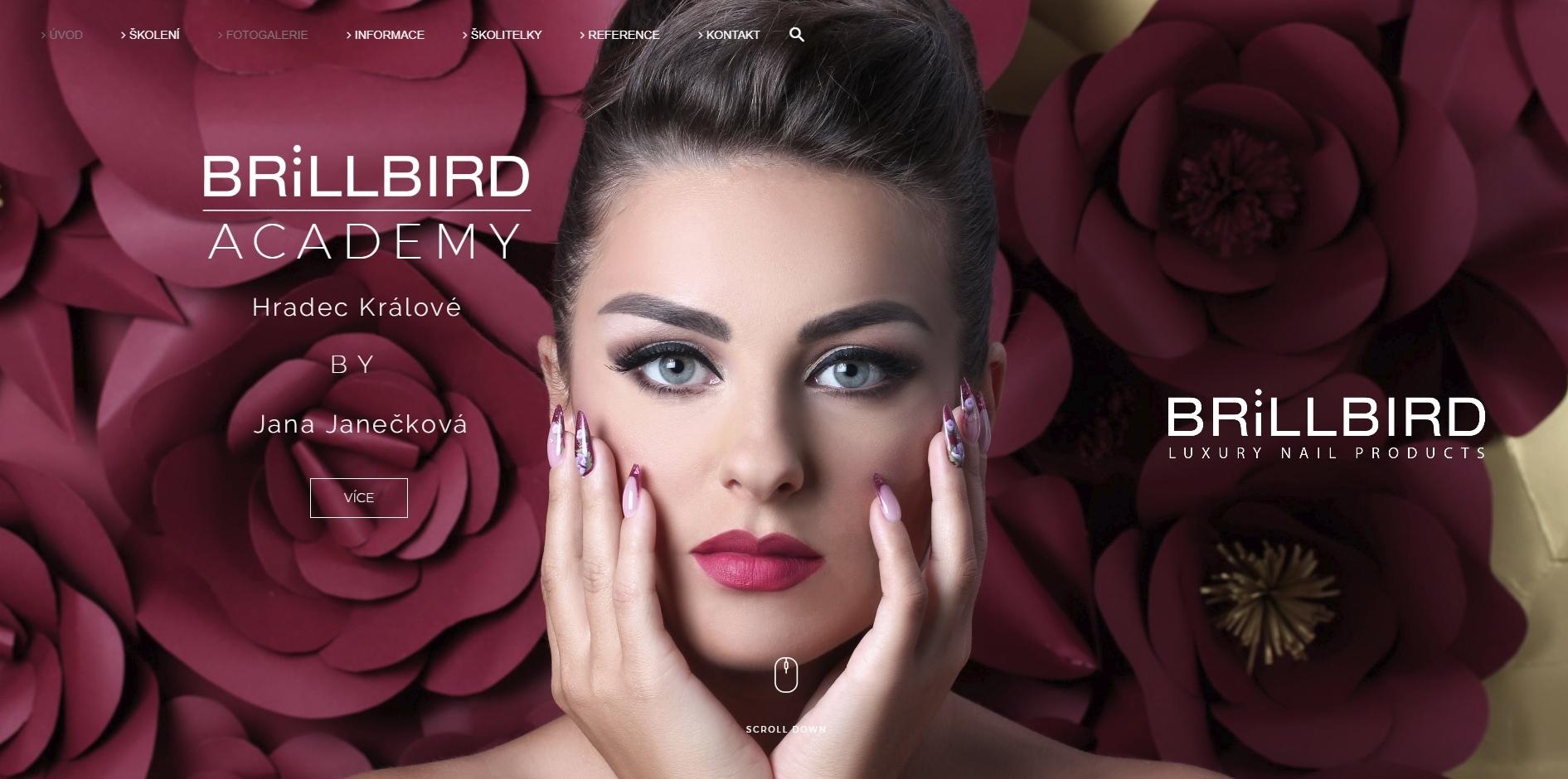 BrillBird Academy - nový web