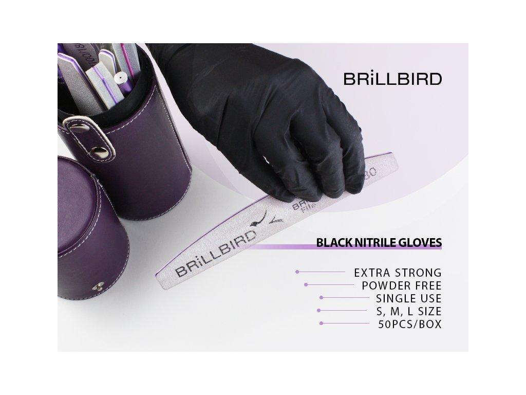 Nitrilové rukavice 50ks BLACK