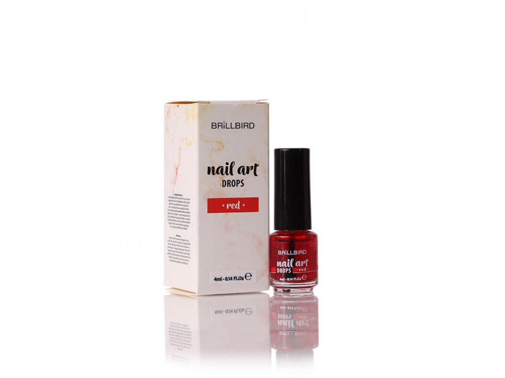 nailart drops red