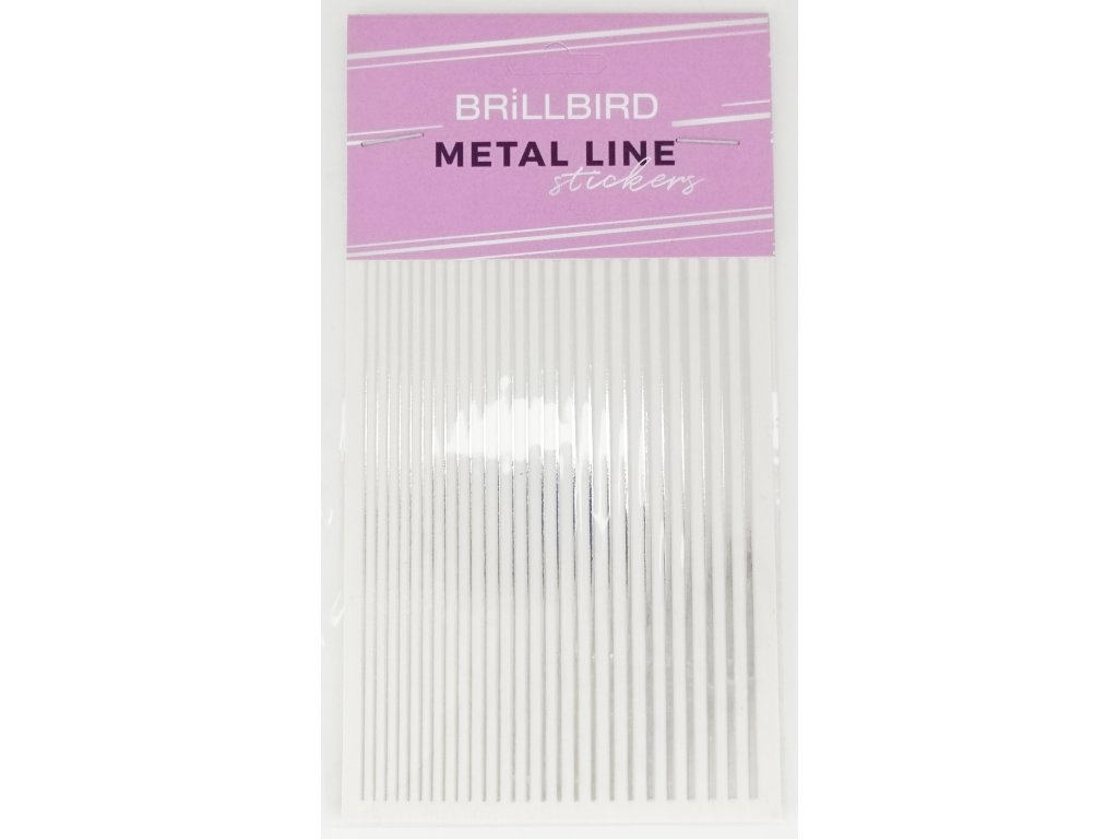 Metal line silver 01