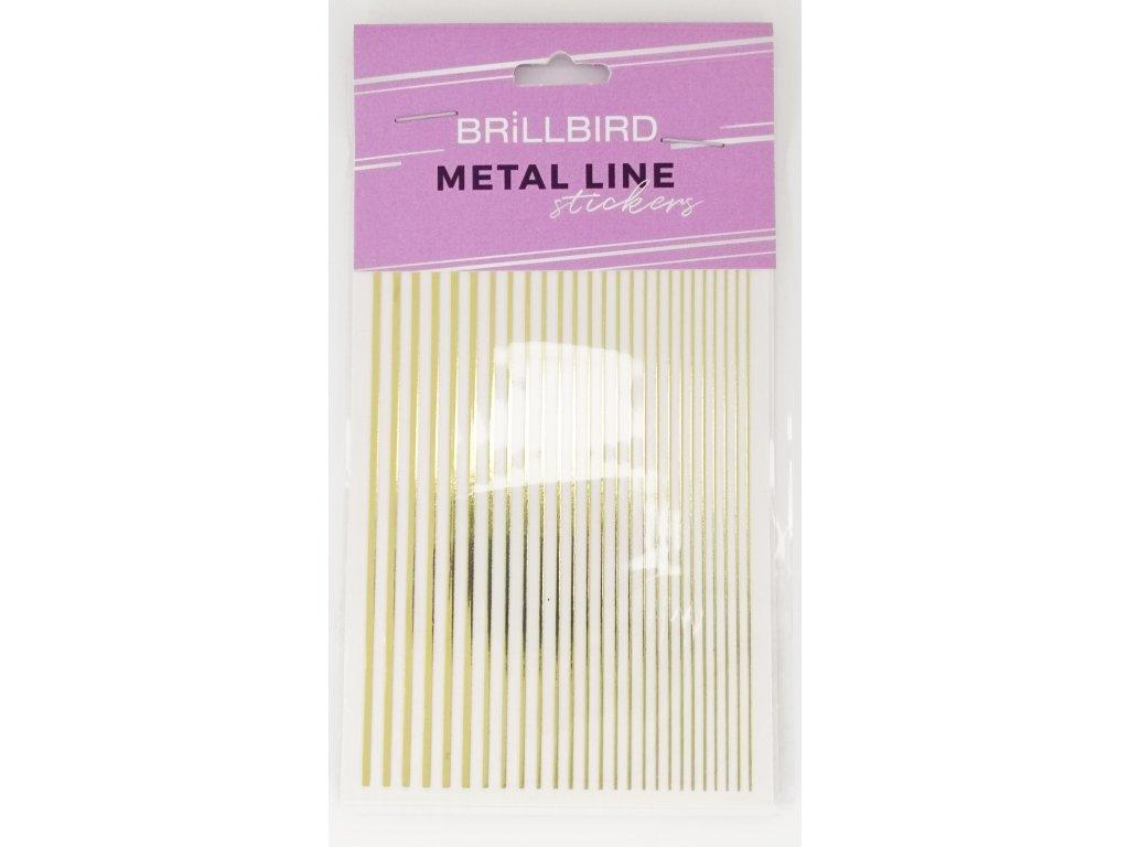 Metal line gold 01
