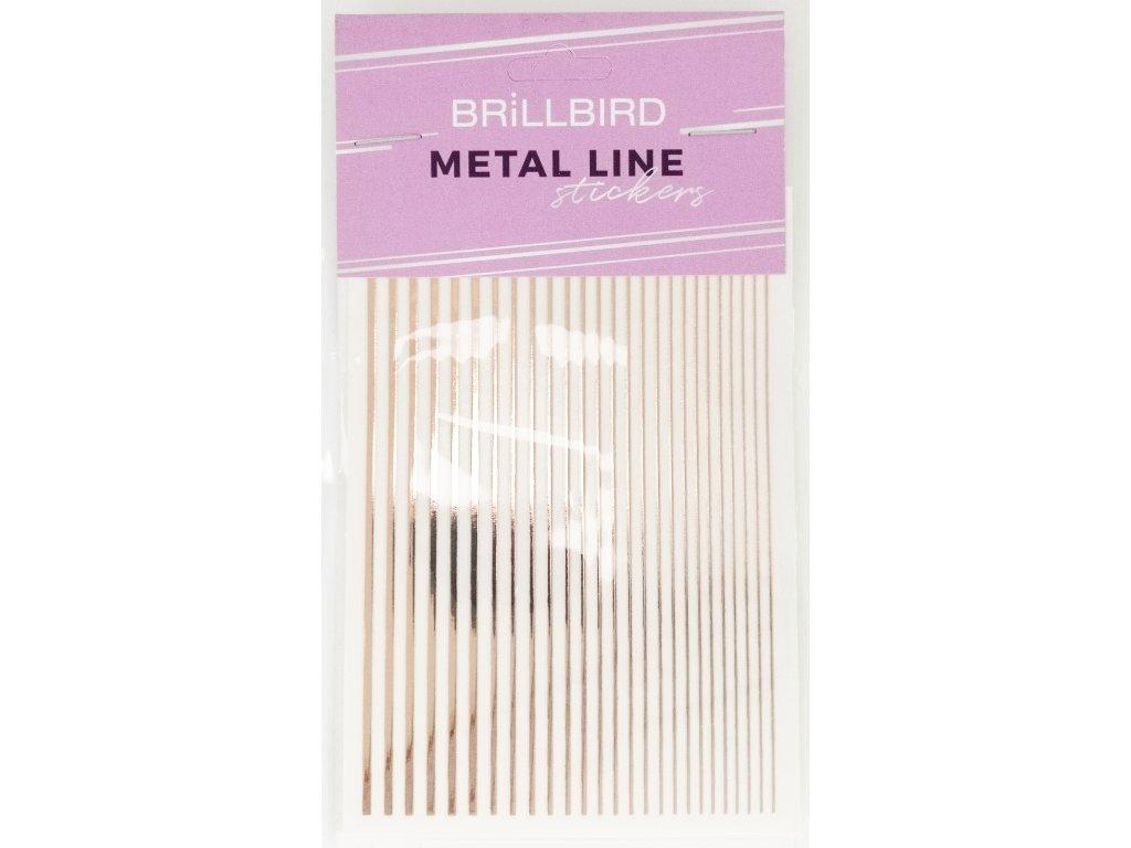 Metal line rus gold 01