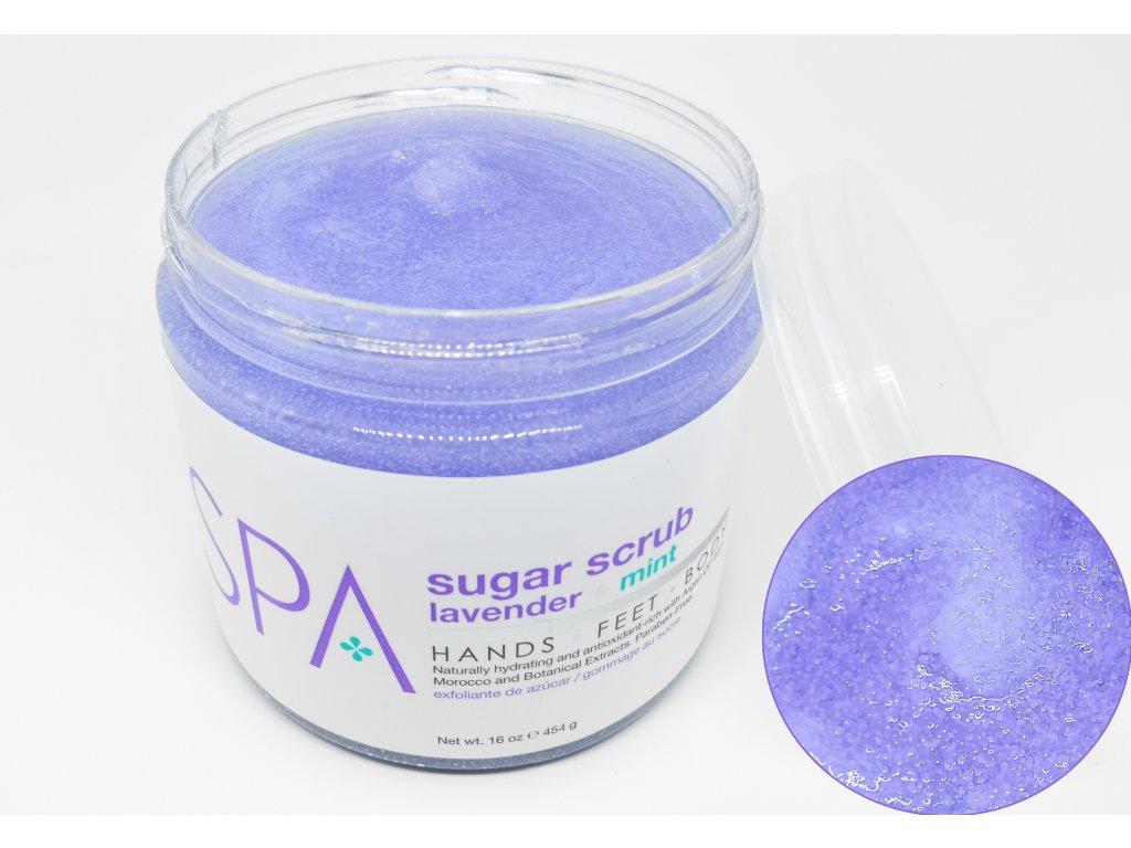 SPA53102 Sugar Scrub Lavender + Mint 454g