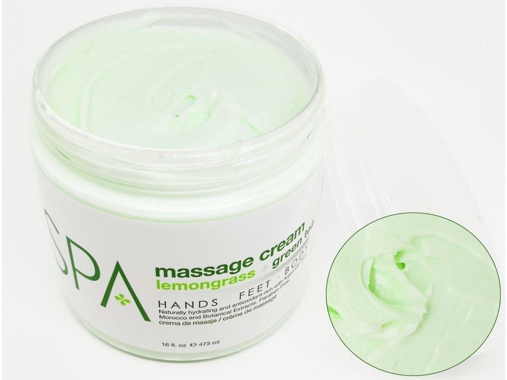 SPA51106 Massage Cream Lemongrass + Green Tea 473ml