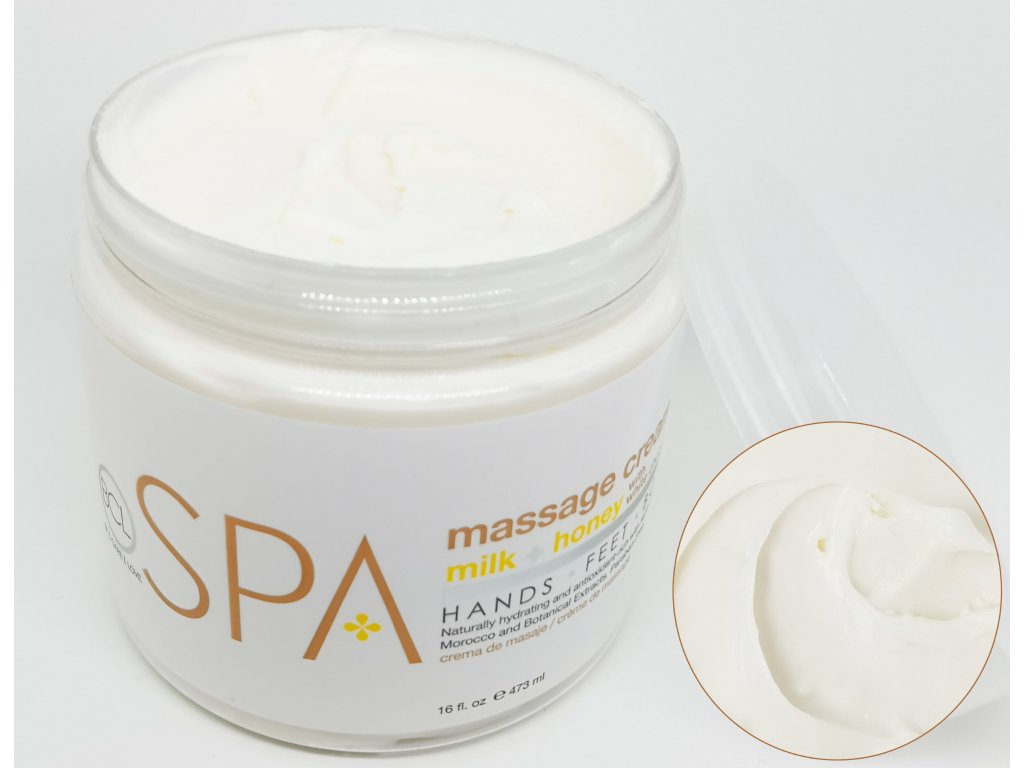 SPA54106 Massage Cream Milk + Honey 473ml