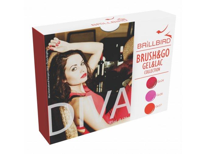 Diva Brush&Go Gel&Lac set 3x5ml
