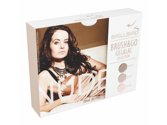 Nude Brush&Go Gel&Lac set 3x5ml