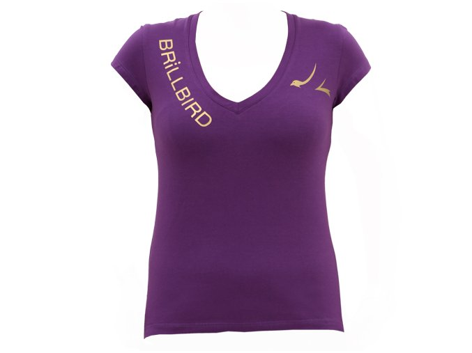 BB bavlněné tričko - fialové