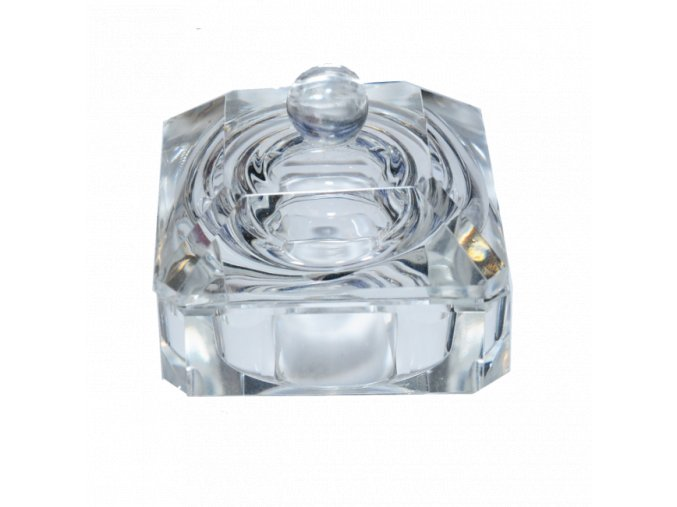 Skleněná nádobka na liquid s víčkem