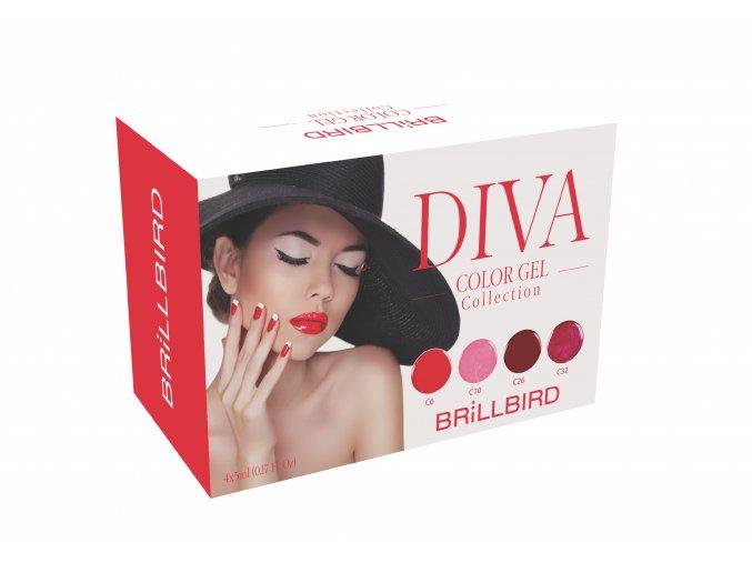 Diva Color gel set 4x5ml