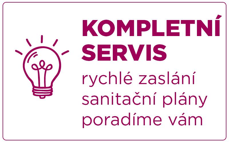 Servis - rychlé zaslání, sanitační plány, poradíme vám