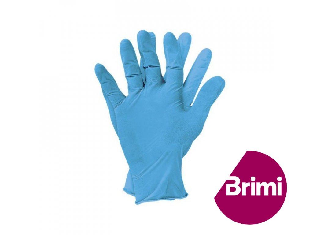 brimi rukavice nitril modre nepudrovane