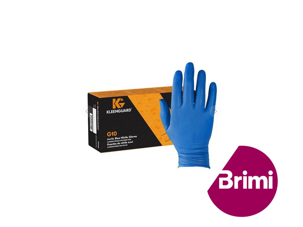 brimi kleenguard rukavice modre arctic blue nitrile gloves kimberly clark g10