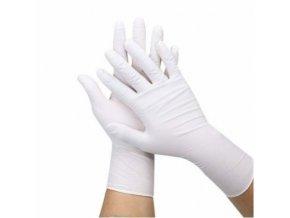 brimi rukavice nitril sensilind bile nepudrovane 200ks xl