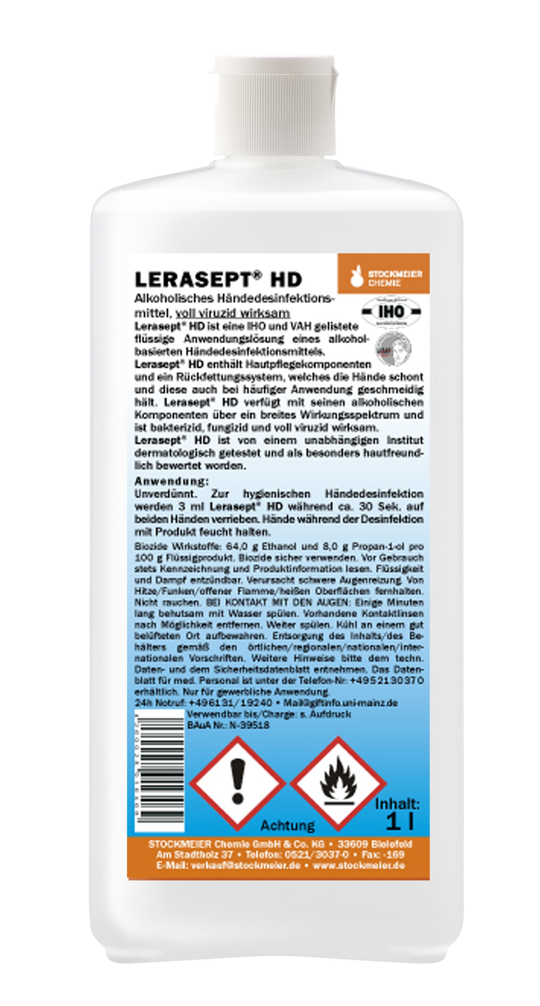 Lerasept HD dezinfekce na ruce s ochranou pokožky Objem: 1 l