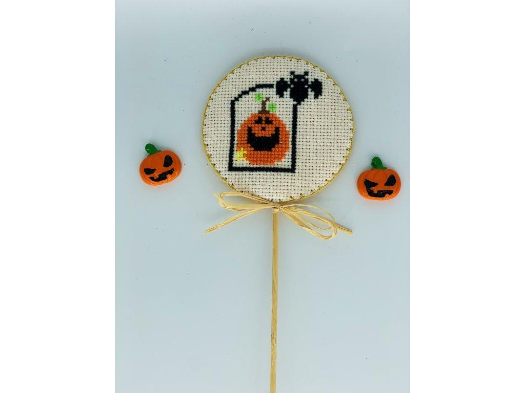 Halloweenský zápich dýně 1
